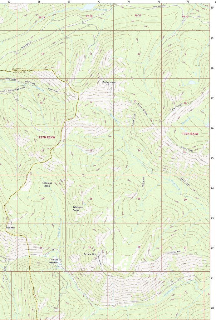 Tuchuck Mtn trail